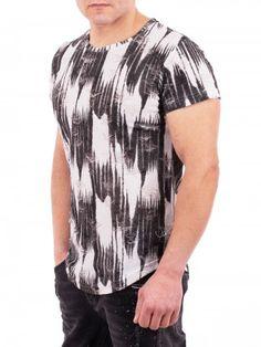 1922d57483b Черно-бяла мъжка тениска Belman Stars - ДресПлейс