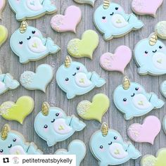 """312 Likes, 8 Comments - (@sweetleighprinted) on Instagram: """"These narwhals just stole my #Repost @petitetreatsbykelly with @repostapp ・・・ Valentine Narwhals…"""""""