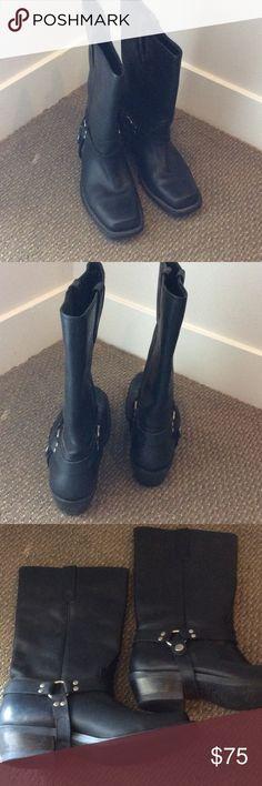 Dingo Boots Dingo black leather motorcycle boots Dingo Shoes Combat & Moto Boots