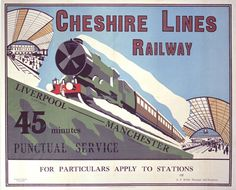 'Cheshire Lines Railway', Cheshire Lines Railway poster, c by . Museum quality art prints with a selection of frame and size options, canvases, postcards and mugs. SSPL Science and Society Picture Library Train Posters, Railway Posters, British Travel, National Railway Museum, Public Transport, Transport Posters, Train Art, Train Service, Bus Travel