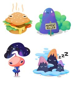 Doodles Lab for Sticker.Place on Behance