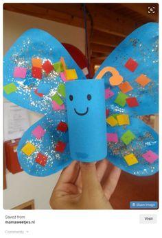 vlinder maken van een wc rolletje our happily ever after ohea