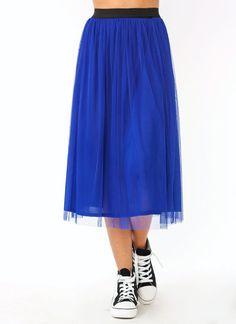 tulle-midi-skirt BEIGE IVORY PINK ROYAL - GoJane.com