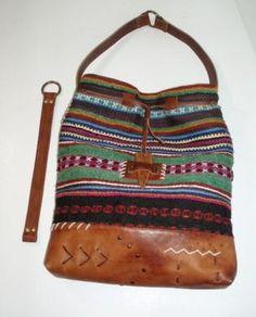 сумка в этно- стиле сумка тканое полотно,натуральная кожа,декор - дерево обработка кожи