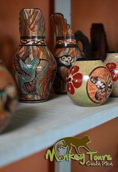 Exposure of some of the beautiful handcrafted pottery made in Guaitil, Costa Rica.... See more at: https://www.costaricamonkeytours.com/costa-rica-tour-122/