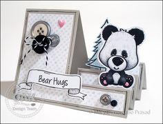 Awash with Color: Oak Tree Stamps - Bear Hugs Step-ups Card