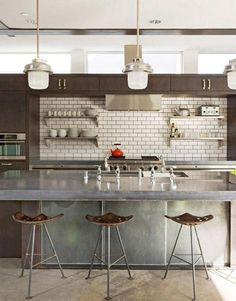 4 unusual kitchen ideas - Loft kitchen with soffit cabinets – hgtv via Atticmag