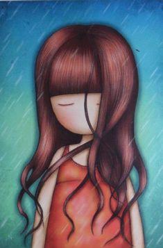 Cromo nº 32 - gorjuss 2 - sticker album - santoro london - panini 2018 Cute Girl Drawing, Cute Drawings, Santoro London, Cross Stitch Pictures, Little Elephant, Baby Blog, Shell Crafts, Baby Scrapbook, Cute Images