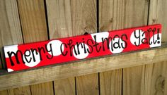 Merry Christmas Y'all red and white - christmas signs - cute polka dot sign… Christmas Signs, Diy Christmas Gifts, Christmas Projects, Winter Christmas, Merry Christmas, Christmas Decorations, Christmas Ideas, Southern Christmas, Woodland Christmas