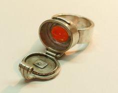 Ring 65.8 (2008, IT) Inner Stone Poison Ring by Blind Spot Jewellery, via Flickr