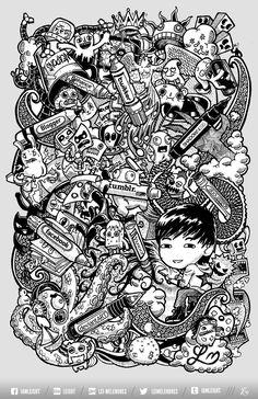 ☆ Doodle Social Pens by lei-melendres