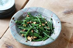 Green Bean & Hazelnut Salad tastes great with some Balsamic Vinegar and Lemon Olive Oil. See the recipe here http://anta.co.uk/blog/green-bean-hazelnut-salad/