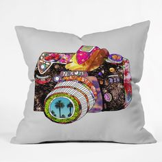 "Bianca Green Picture This Throw Pillow (26"" x 26""), Multi, Size 26 x 26 (Polyester, Graphic Print)"