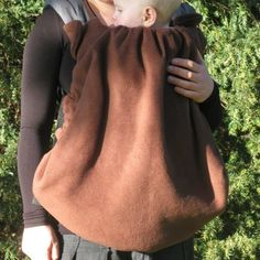 Winter baby wearing fleece cover 