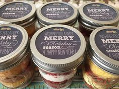 Cupcakes In A Jar-Mason Jars-Christmas Gifts-Merry Christmas-Happy New Year-Teacher Gifts-Daycare Gifts-Neighbors-Christmas Sweets