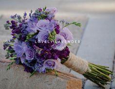 Lavender Roses, Dark Purple Matthiola, Purple Freesia, and Purple Limonium. Create your own purple wedding bouquets with DIY Kukka Wedding Flowers