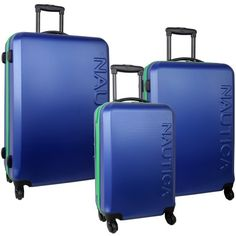 Nautica Luggage Ahoy 3 Piece Set, Blue/Aquatica Green, One Size Nautica http://www.amazon.com/dp/B00FNT6PFC/ref=cm_sw_r_pi_dp_hgq.tb15KMY0D