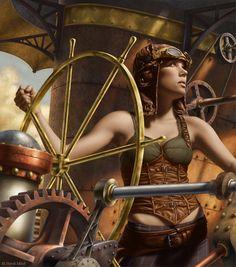 The pilot: steampunk (digital artwork)