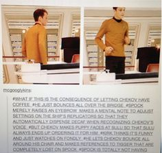 Awwwww! How much cuter can Chekov get?
