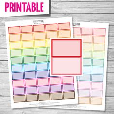 Half Box Printable Stickers // Printable Planner by PrettyStock