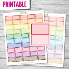 Half Box Printable Stickers // Printable Planner by PrettyStock