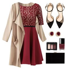 Red Dress - PV VD Contest by casuality on Polyvore featuring Slate  Willow, Chloe Gosselin, Charlotte Olympia, Kevin Jewelers, NARS Cosmetics, women's clothing, women's fashion, women, female and woman