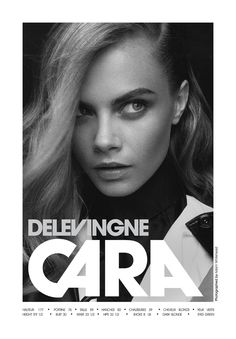 Cara Delevingne, has quickly become one of my favorite models of the moment.