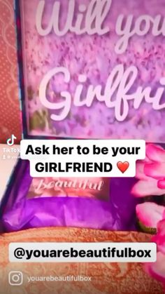 Will You Be My Girlfriend, Boyfriend Girlfriend Quotes, Birthday Gifts For Girlfriend, Gifts For Wife, Girlfriend Gift, Diy Gift Box, Purple Aesthetic, You Are Beautiful, Couple Gifts