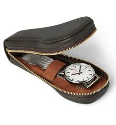 From luxuriant leather cases, to futuristic watch-winders, you'll find everything you need to keep your designer watches in the best shape at MR PORTER. Watch Cases For Men, Mens Watch Box, Leather Roll, Leather Pouch, Watch Travel Case, Leather Gifts, Leather Craft, Leather Accessories, Vintage Watches