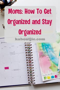 Moms have to juggle so much and it is not easy. Here are some greats tips on how to get organized and stay organized to make life much easier.    #MomLife #Organization How To Juggle, How To Get, How To Plan, Organized Mom, Staying Organized, Family Planner, Kids Schedule, Business Planner, Family Organizer