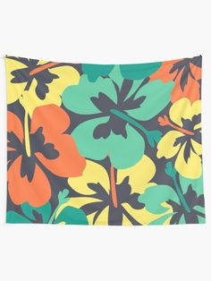 """""""Flower Print, Flower Pattern"""" Tapestry by MsD7 