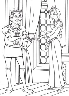 Coloring Page - Shrek coloring pages 21