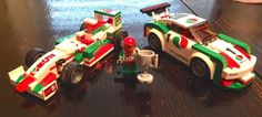Octan-branded versions of the Speed Champions F1 & Porsche cars: lego