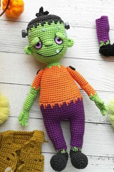 Crochet Animal Patterns, Crochet Doll Pattern, Crochet Patterns Amigurumi, Crochet Dolls, Doll Patterns, Handmade Ideas, Handmade Toys, Handmade Crafts, Halloween Doll