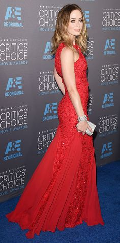2015 Critics' Choice Movie Awards: Red Carpet Arrivals - Emily Blunt in Emilio Pucci #InStyle