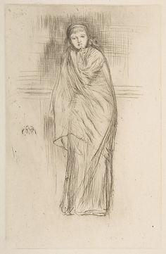 The Model Resting / James McNeill Whistler / 1870 / drypoint; fourth state of six / at the Met /