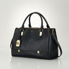 Morrison Tri-Zip Satchel - Lauren Lauren Handbags - RalphLauren.com