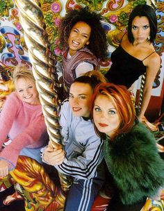 My young style icons (one for every mood). True story, I will beat up anyone who speaks ill of the Spice girls. Emma Bunton, Ghost World, Girl Bands, Spice Girls Songs, Victoria Beckham, Woodstock, Spice Girls Wannabe, Mtv, Viva Forever