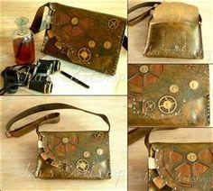 Large steampunk leather bag by ~izasartshop on deviantART