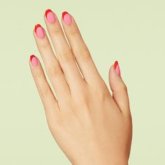 Go for a tonal, pink-and-red palette for an impactful swoop in our latest resort design, New Wave. #paintboxmani