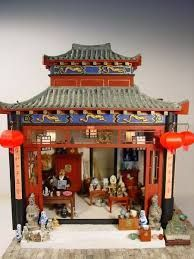 Image result for chinese style dolls house furniture