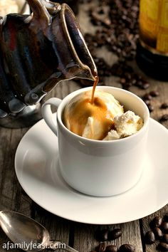 Affogato - A classic Italian dessert.  So simple and so delicious!