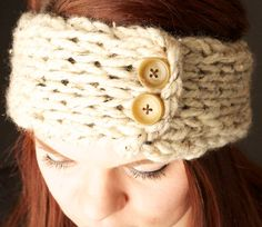 The classic warm-weather headband! Headband is finger-knitting using no knitting needles. Color options vary based on supply availability, so please