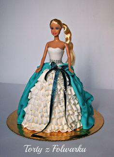 torty z folwarku torty artystyczne masa cukrowa styl angielski marcepan fondant sugar craft sugarcrafting cake doll barbie tort urodzinowy dla dziewczynki dziewczęcy lalka z lalką śliczny
