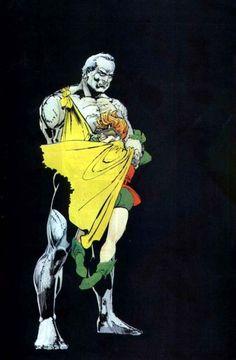Batman: The Dark Knight Returns splash by Frank Miller Im Batman, Batman Art, Batman Robin, Comic Book Artists, Comic Books Art, Comic Art, Frank Miller Art, Dc Comics, Desenhos Cartoon Network