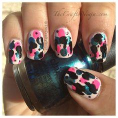 Spray Paint Nails By The Crafty Ninja