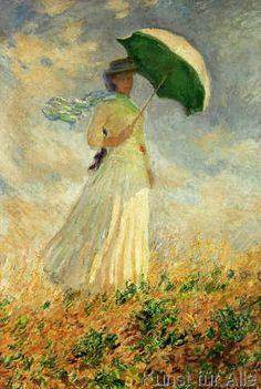 Claude Monet - Femme a l'ombrelle tournee vers la droite