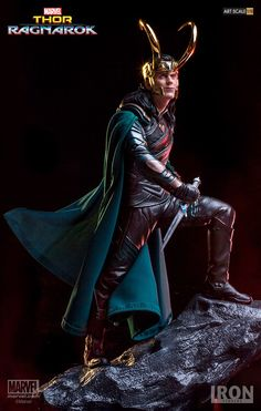 """Iron Studios - Thor Ragnarok - Loki Battle Diorama - Pre-Order Features: - Based on original references from the movie - Made in Polystone - Hand painted - Cloth cape - Includes base Product size: Approx 9.8"""" This is a pre-order scheduled for release in the 1st quarter of 2018. Item will ship as soon as we have it in our warehouse. Any questions just ask."""