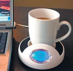 USB Coffee Warmer. Want to have some hot beverage during your work? This USB warmer will give you some enjoyable time. Only using your computer, it is such a lovely gadget for office.
