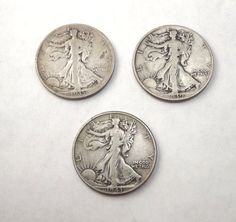 Lovely lady on Coin, 1935 or 1939 or 1943 Vintage Walking Liberty Half Dollar by DontUWantMe, $18.00